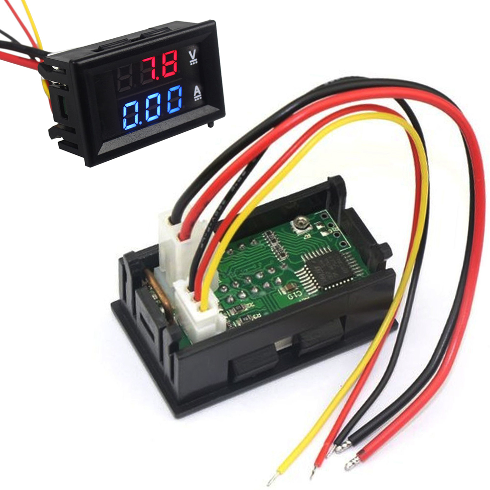 Mini Dc 100v 10a Digital Voltmeter Ammeter Blue Red Led Volt Amp My And Meter Here Is The Wiring Diagram For Gauge Us