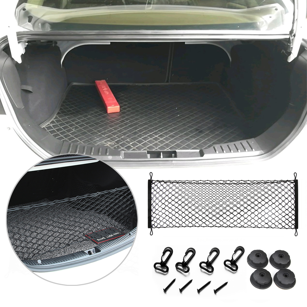 Cargo Net Envelope Style Trunk Rear Organizer for Ford Fusion 2014 2015 2016 2017 2018