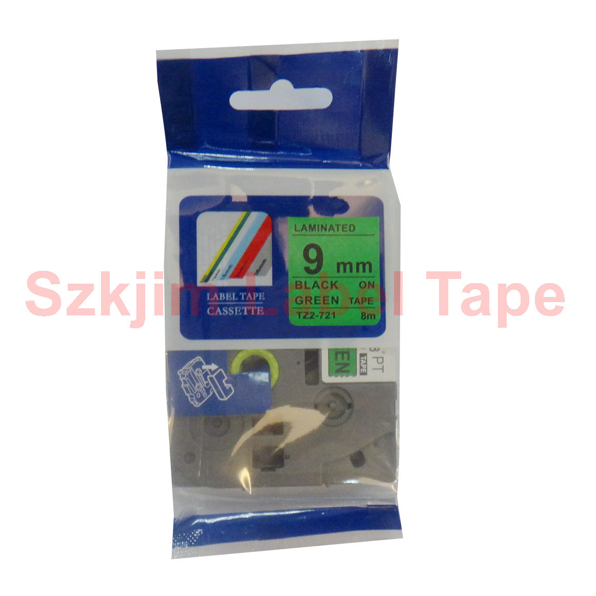 Tz 721 Black On Green Label 9mm 8m Compatible For Brother P Touch Tape Tze M951 24mm Silver Matt Variable 7 11 Shop