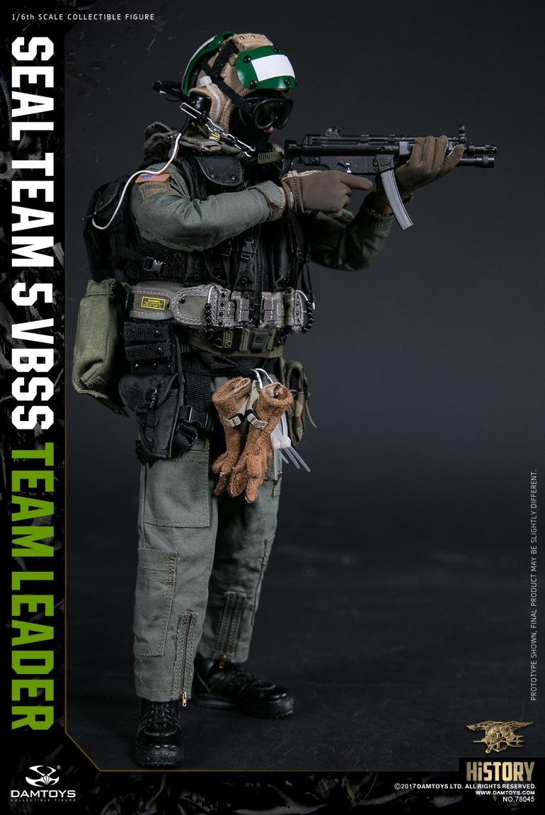 TEAM LEADER pistol w//holster 1//6 Scale DAMTOYS 78045 SEAL TEAM 5 VBSS