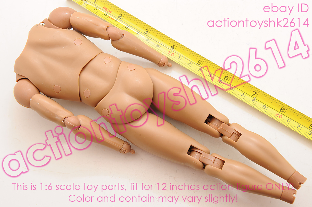 "1//4 Scale Standard Male Body COOMODEL HD001 18/""Tan Action Figure Body"