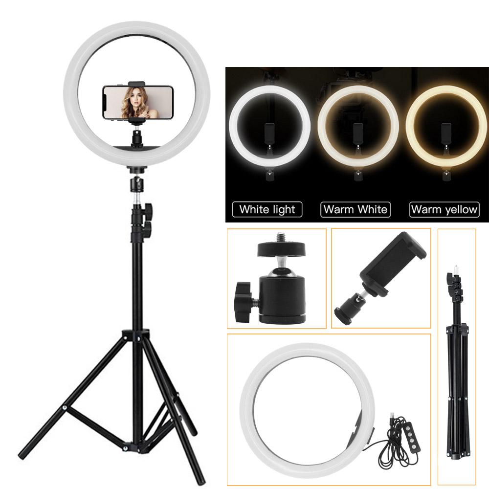Video Photo Ring Light Lighting Kit 12inch Outer Dimmable Led 2m Light Stand Ebay