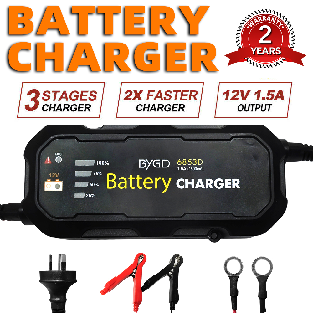 Details About Smart Battery Charger 1 5a 12v Automatic Sla Agm Car Truck Boat Motorcycle