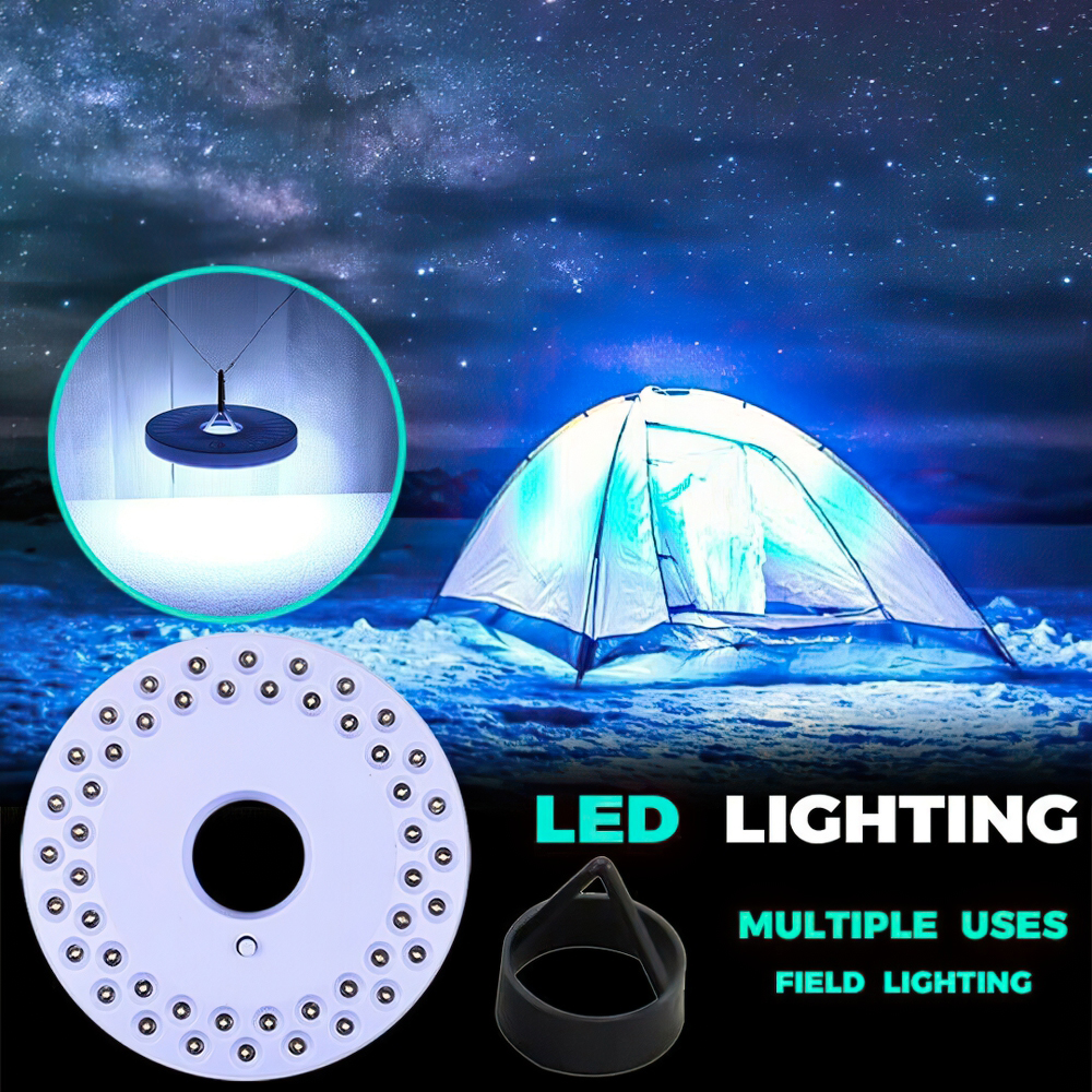 LED CAMPING LIGHT GARDEN LIGHT PARASOL 100,000 HOURS MULTI EFFICENT 4 BATTERY