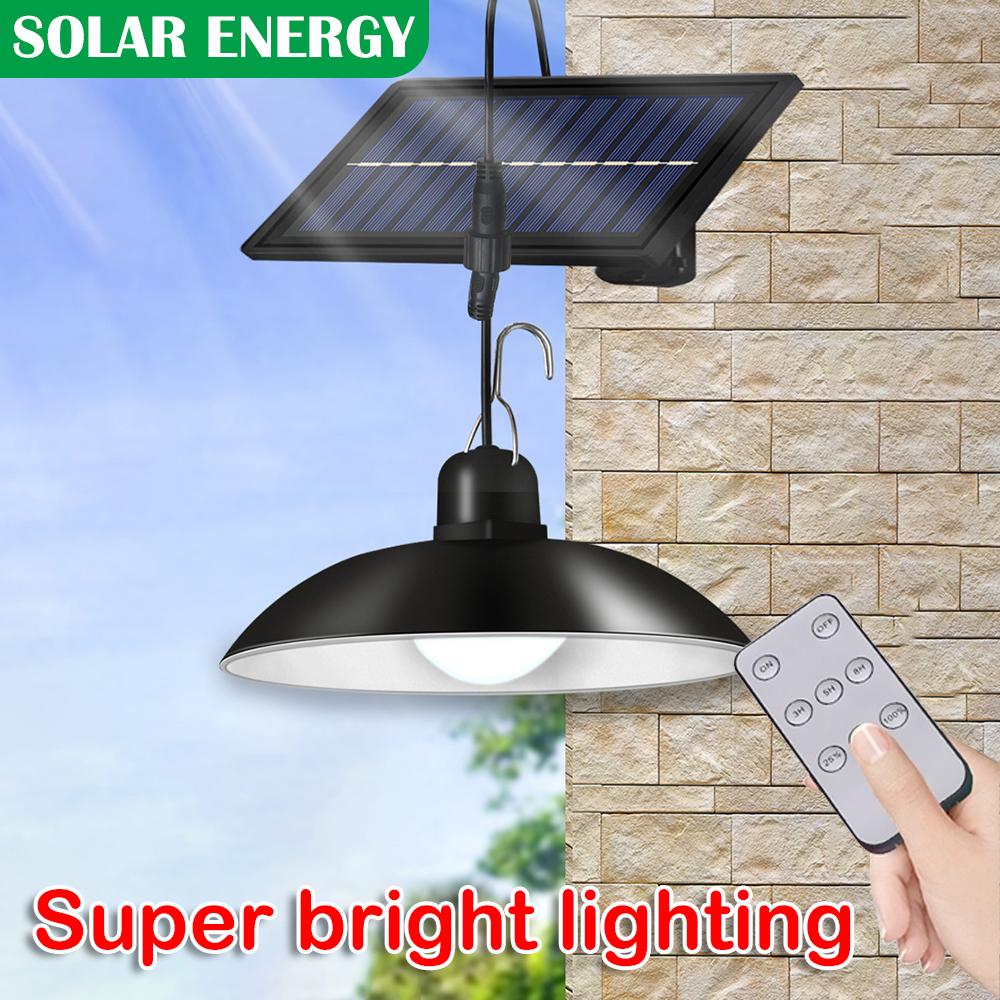Home Solar Powered Light LED Lamp for Patio Garden Hanging Garage Shed Decor UK