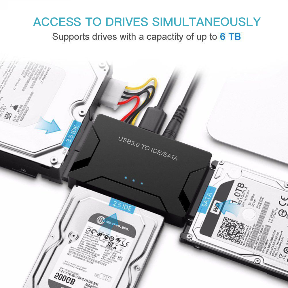 UK Plug USB 3.0 To IDE/SATA Converter External Hard Drive ...
