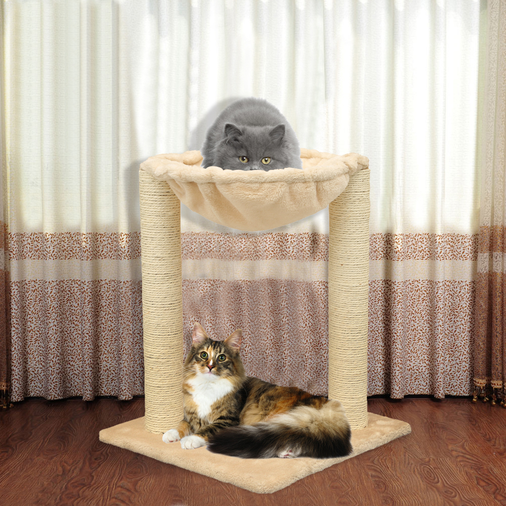 20   cat condo multifunction scratching post pet house cat tree with hammock bed 20   cat condo multifunction scratching post pet house cat tree      rh   ebay