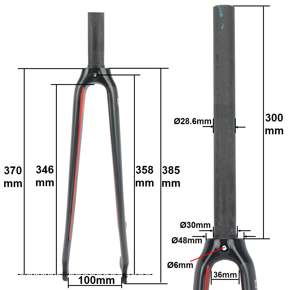 UP 700C 1-1//8 Disc Brake Carbon Road Bike Bicycle Fork Tapered//Straight Cycling