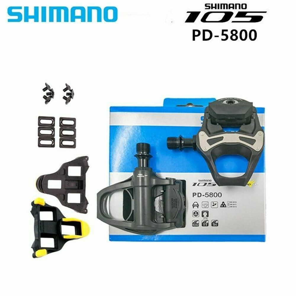 """New Shimano 105 PD-5800 Carbon SPD-SL Road Bicycle Bike Pedals Clipless 9//16/"""""""