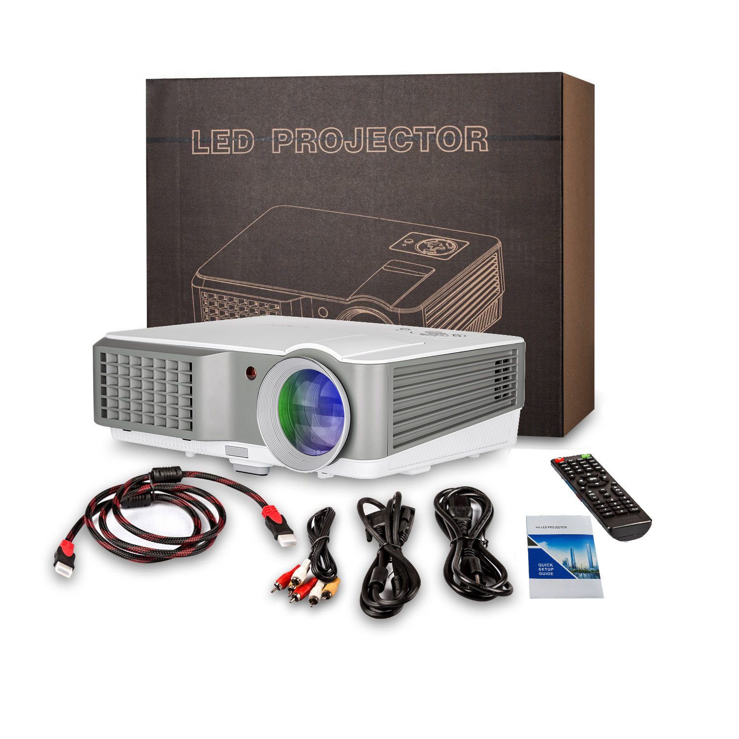 4000lm Projector Hd Lcd Led Home Theater Projector: 4000lm HD Projector Multimedia Home Theater Video HDMI*2