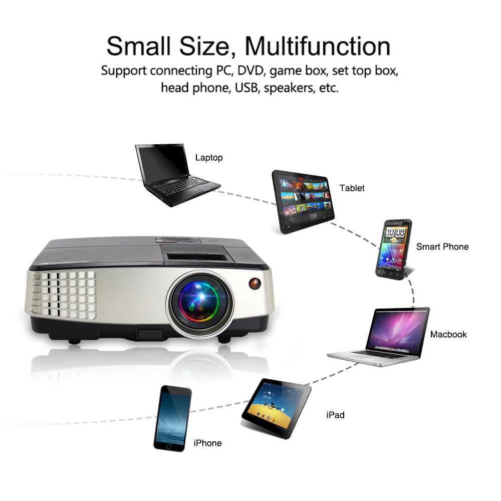 Android Wifi Mini LED Home Theater Projector Bluetooth Movie HDMI USB VGA  1080P купить на eBay с доставкой в Украину ➤