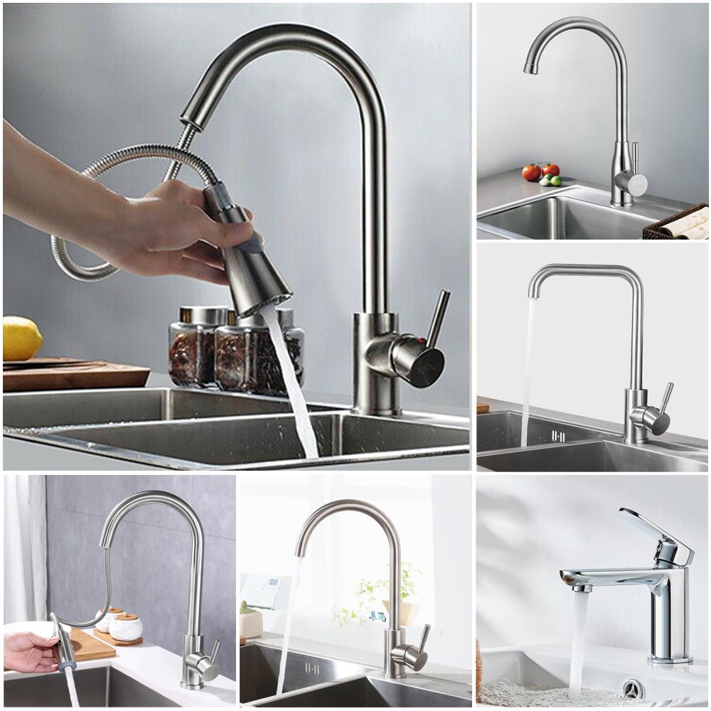 Details zu 17° Küche Spültisch Küchenarmatur Armatur Wasserhahn  Einhebelmischer Edelstahl