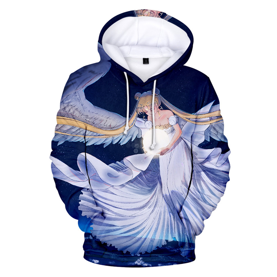 Fashion 3D Print Sailor Moon Anime Women Men Casual Pullover Hoodies Sweatshirts