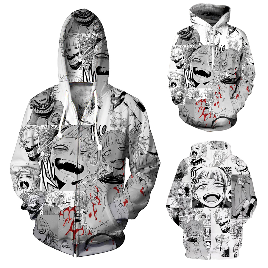 Ahegao details about 2019 new anime ahegao hoodie sweatshirt hooded pullover  unisex cosplay costume