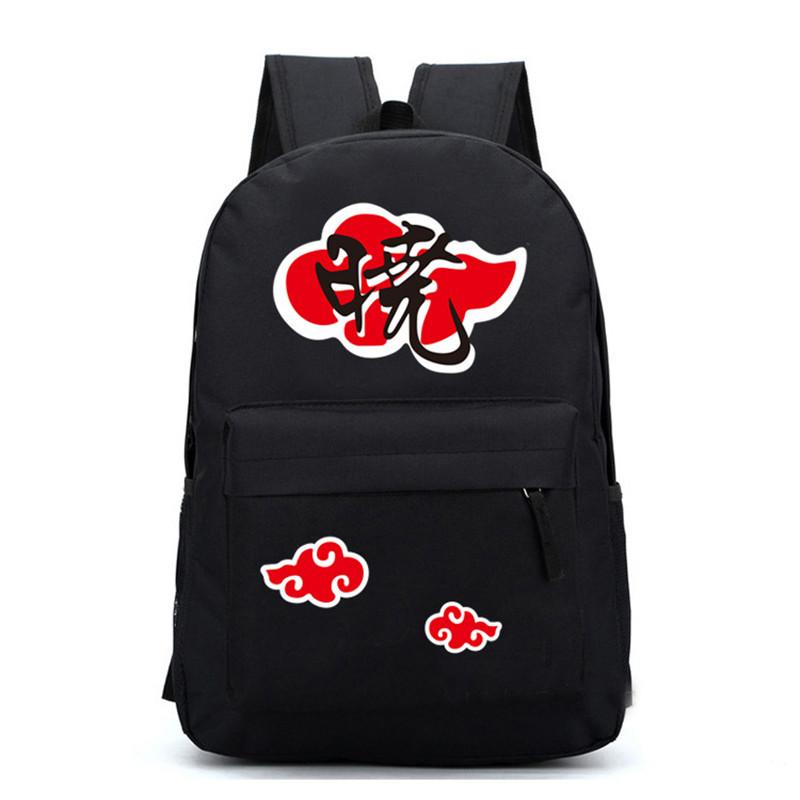Naruto Akatsuki Member Backpack Canvas School Travel Shoulder Bag Cosplay Laptop