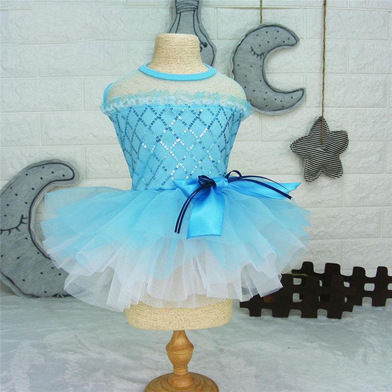 Dog-Cat-Bow-Tutu-Dress-Lace-Skirt-Pet-Puppy-Dog-Princess-Wedding-Apparel-Clothes thumbnail 15