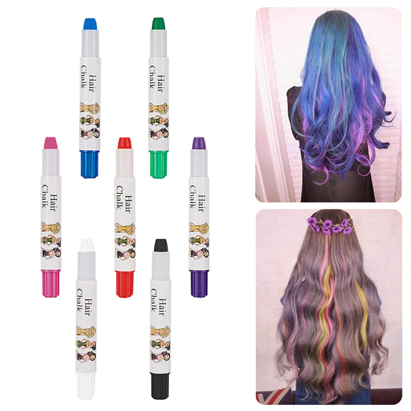 Professional Waxy Easy Temporary Hair Color Dye Chalk Pens Touch ...