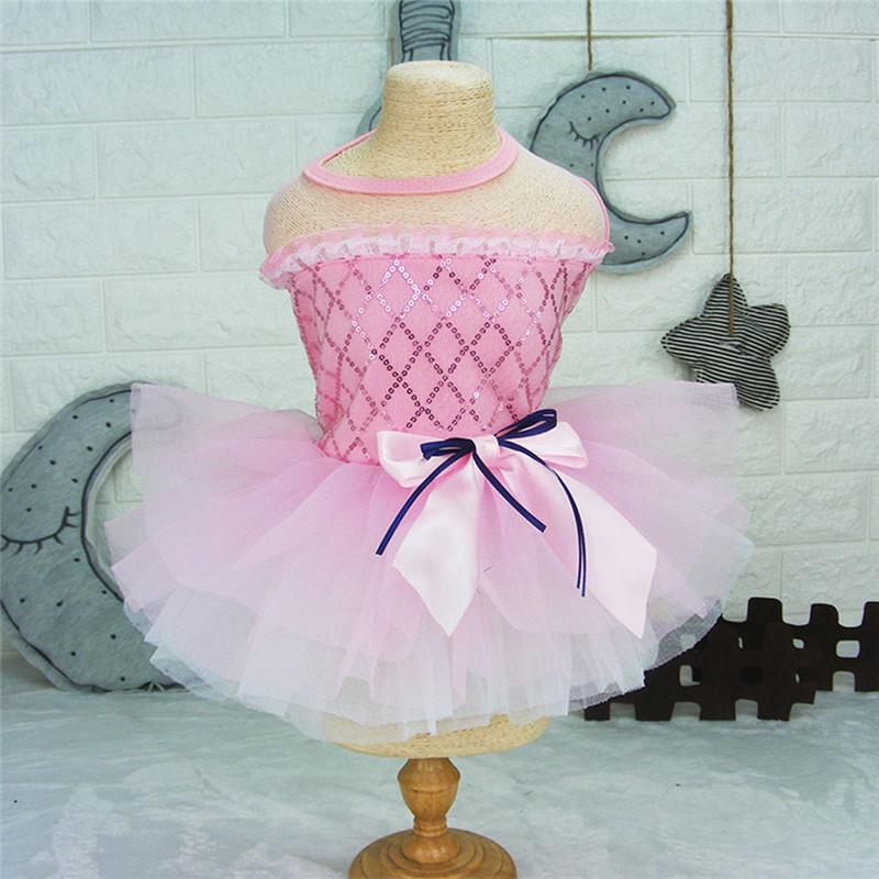 Dog-Cat-Bow-Tutu-Dress-Lace-Skirt-Pet-Puppy-Dog-Princess-Wedding-Apparel-Clothes thumbnail 17