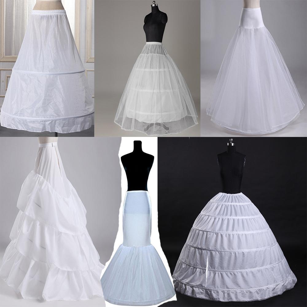 6 kinds wedding petticoat underskirt crinoline dress bridal hoop ...