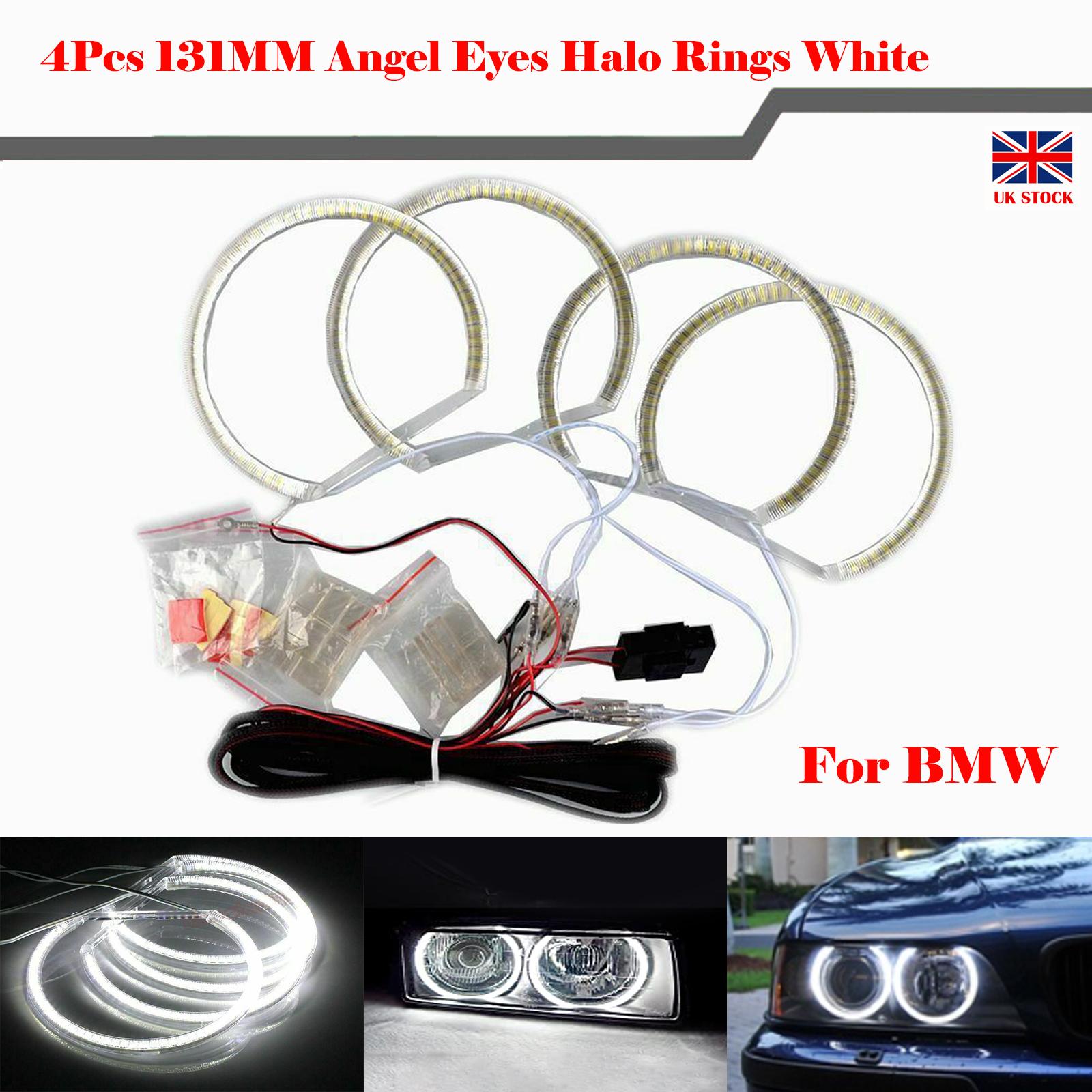 4 131mm Led Angel Eyes Halo Rings White Light Error Free For Bmw E36 E38 E39 E46 610877986828 Ebay
