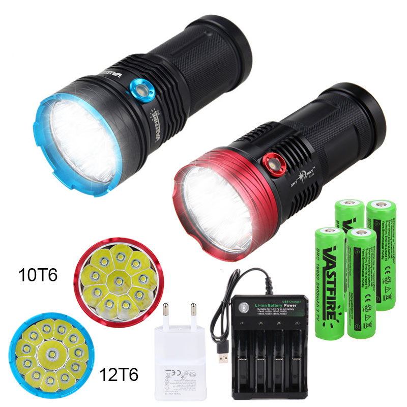 Ultra Bright 60000LM LED Flashlight Rechargeable 4 Modes Work Light Camping Lamp