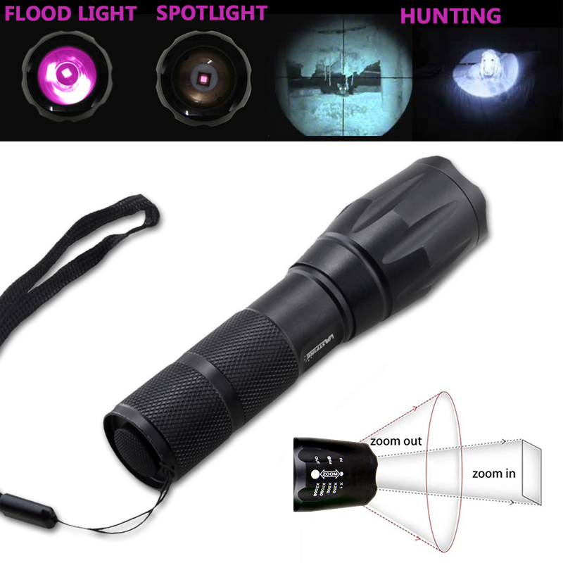 Infrared Torch IR vision de nuit Lampe 5 W 4 Chips 850 Presque comme neuf CHASSE LAMPE DE POCHE W 18650