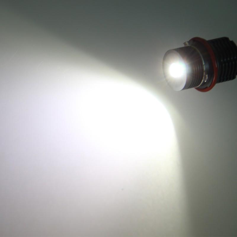 Paar 40w Led 6500k Angel Eyes Scheinwerfer Lampe F 252 R Mw