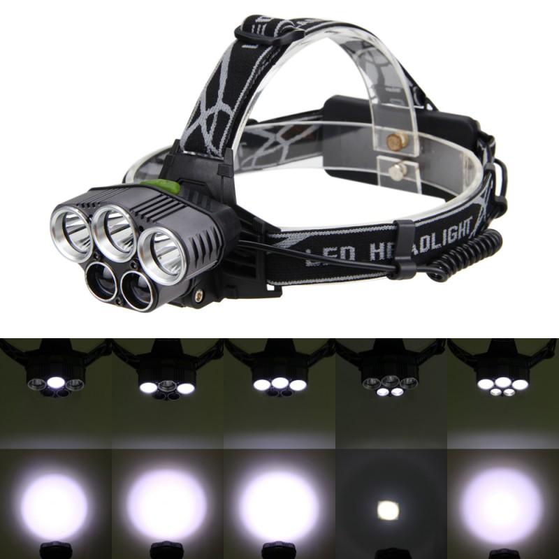 90000LM 5X XML T6 LED Headlamp Rechargeable Head Light Flashlight Torch Lamp HOT
