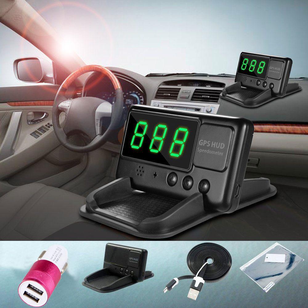 Universal Gps Hud Digital Head Up Display Car Speeding