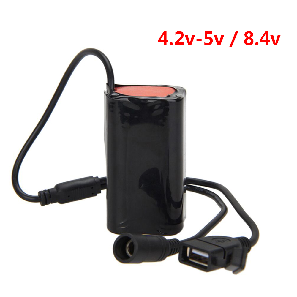 8.4V USB Rechargeable 4x18650 Battery Pack For Bicycle Light Bike Torch ND