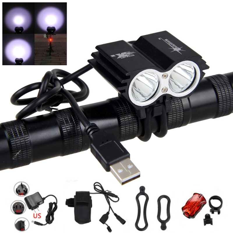 Solarstorm 10000LM CREE XM-L T6 Bicycle IPX-7 LED Headlight with Battery+Charger