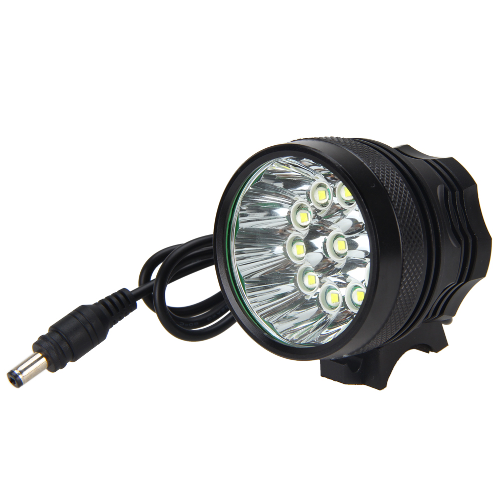 Brightness 40000LM 11X T6 LED Head Torch Front Bicycle Bike Light 18650 Battery