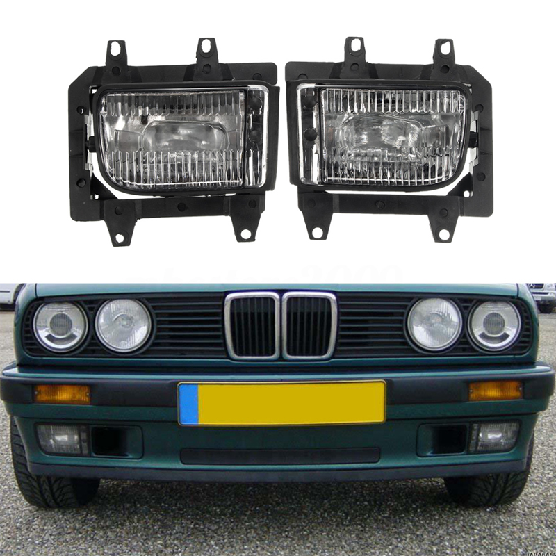 1 Pair Car Front Per Driving Fog Light Lamp For Bmw E30 318i 318is 325i 85 93