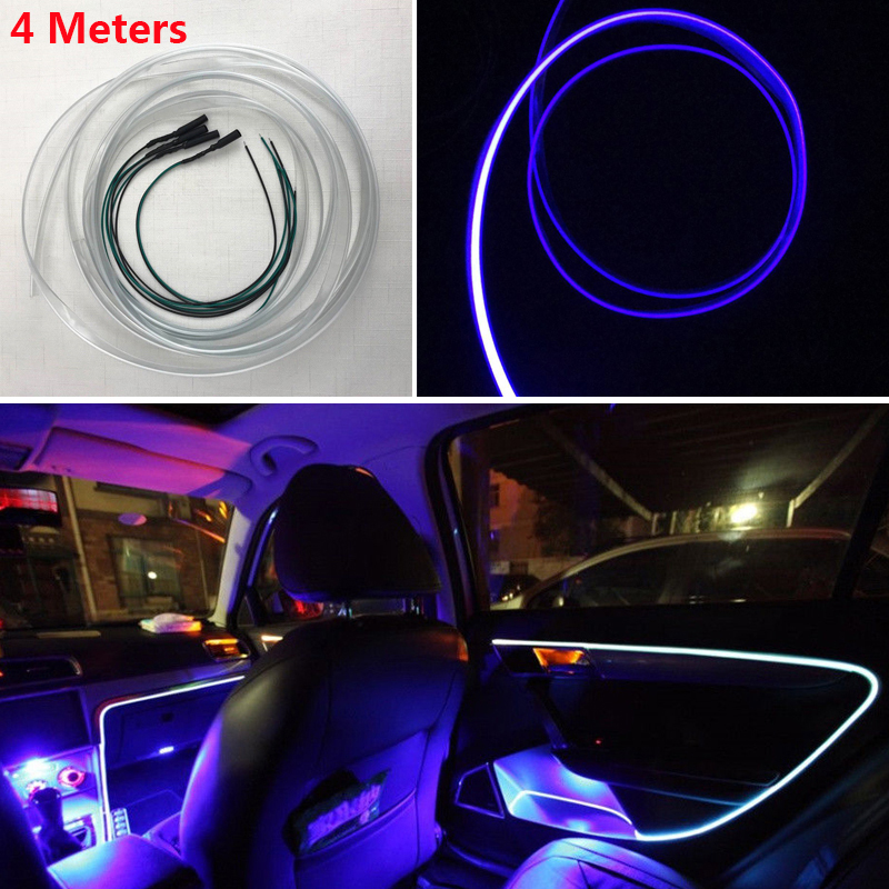 car interior blue led decorative lamp optical fiber light. Black Bedroom Furniture Sets. Home Design Ideas