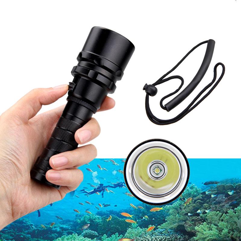 6000LM T6 LED Tauchen Taschenlampe Fackel Unterwasser 50M wasserdicht W*deNIDE