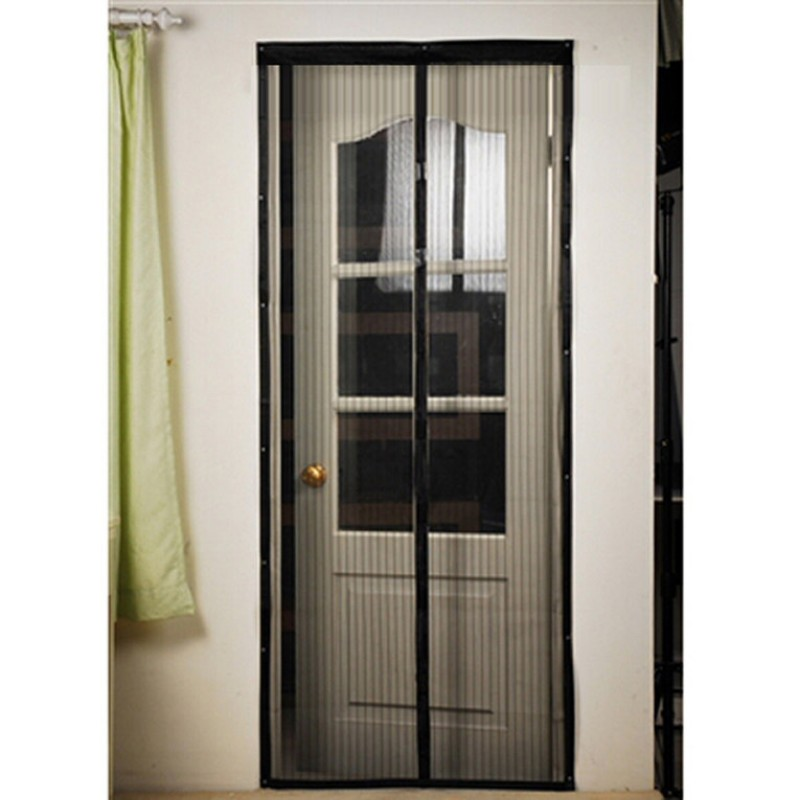 Screen Door Hands-Free Black Magic Mesh magnets For Pets STOP Bug Mosquito Fly