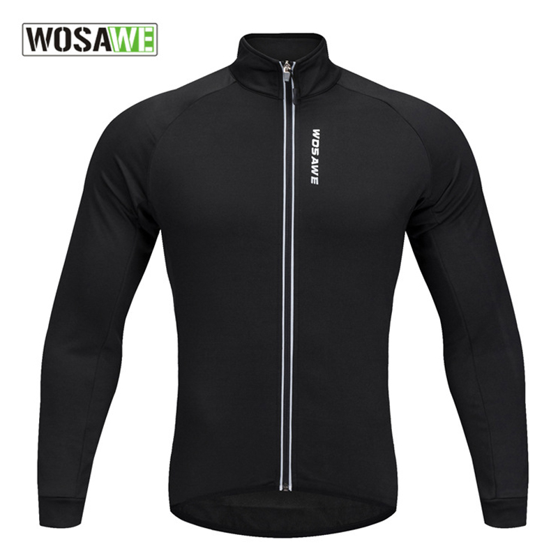 Details about WOSAWE Soft Thermal Fleece Cycling Jersey Long Sleeve MTB  Bike Bicycle Shirt 72f421ba7