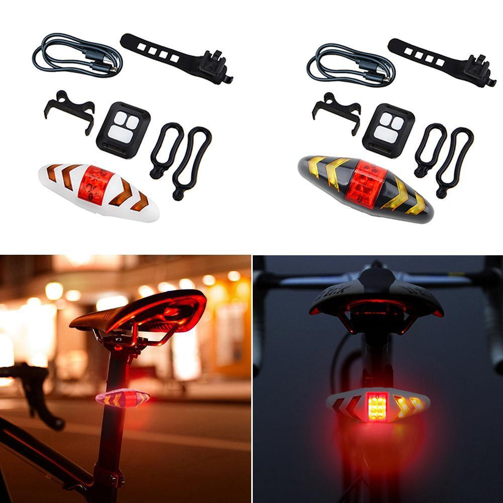 led fahrrad r cklicht r ckleuchte blinker bike mtb. Black Bedroom Furniture Sets. Home Design Ideas