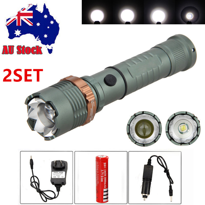Zoom-Focus-6000Lm-XML-T6-LED-Flashlight-Light-Camping-Torch-Rechargeable-Battery