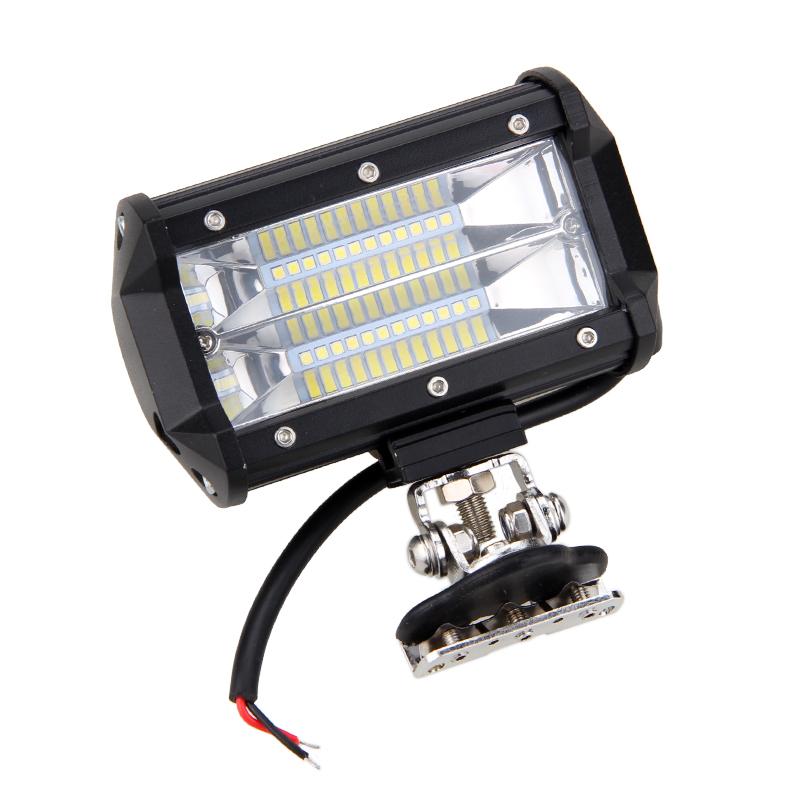 5 72w Led Auto Work Light Bar Flood Driving Lamp 2pc Car