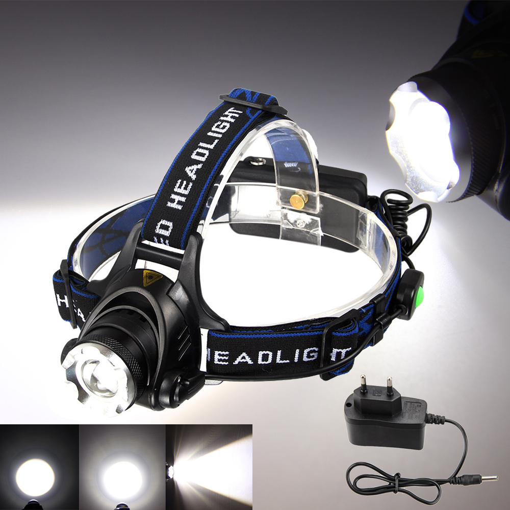5000Lm T6 LED Frontale rechargeable Phare Lampe Frontale LED Vélo lumière tête 18650 Headlamp 7b0663