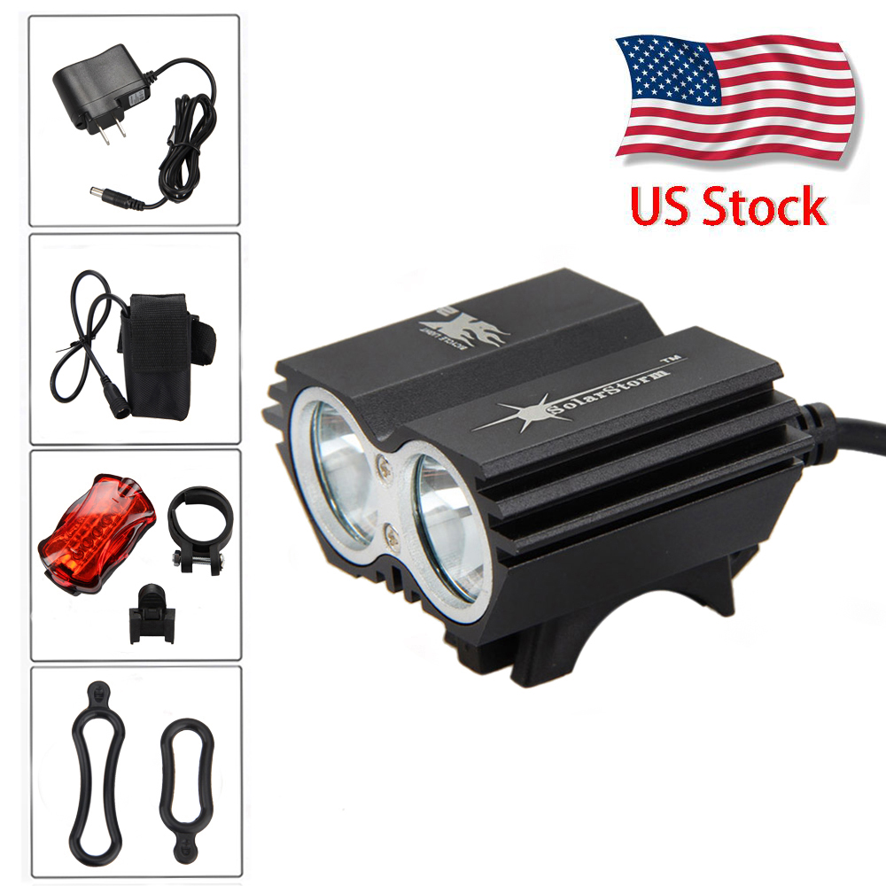 20000LM SolarStorm X3 X2 LED Rechargeable Front Bicycle Light Rear Lamp Battery