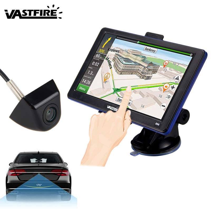 """7/"""" Truck Car GPS Navigation Bluetooth AV-IN 8GB SAT NAV+Wireless//Wire LED Camera"""