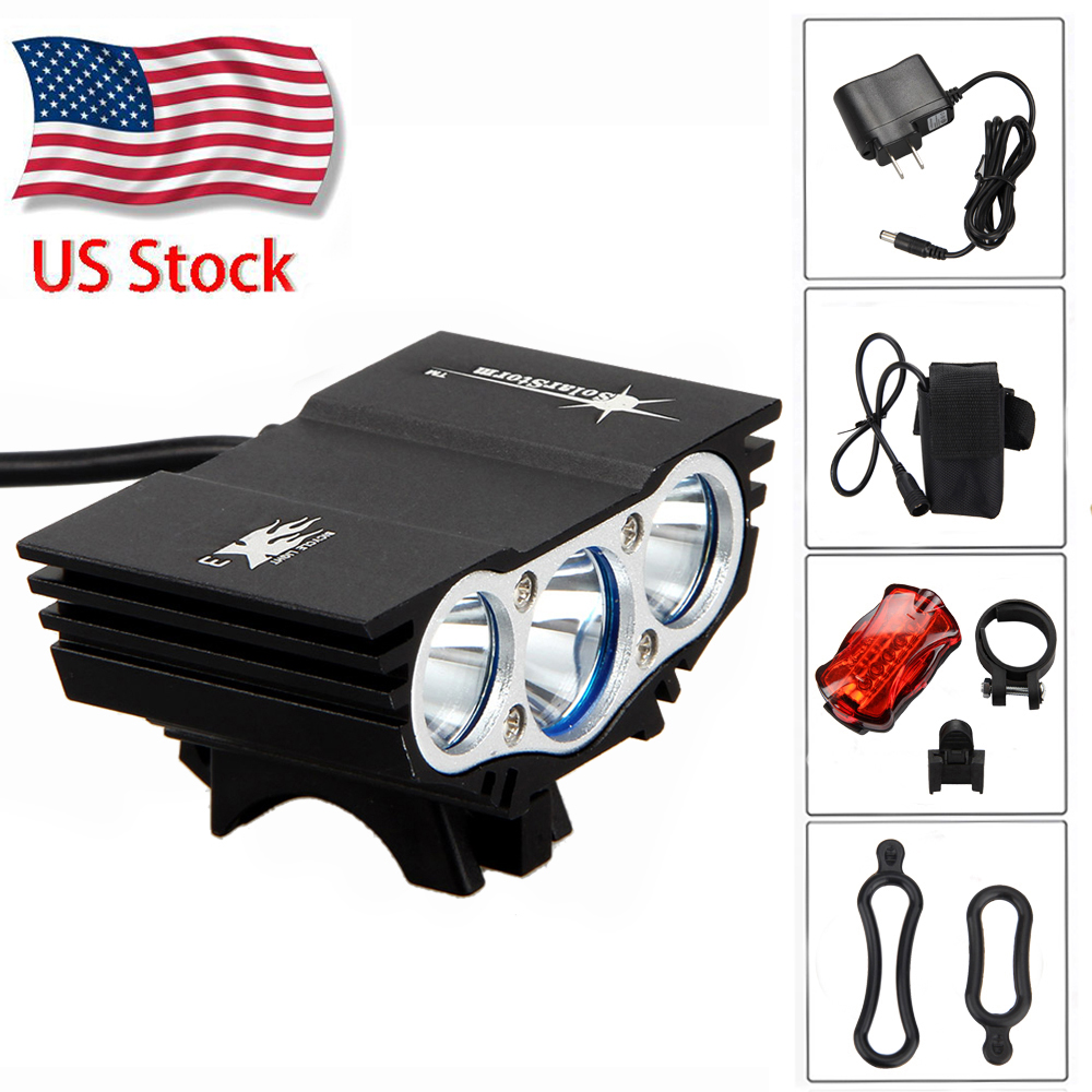 Solarstorm 12000lm 3x T6 Led Cycling Front Bicycle Lamp Bike Light