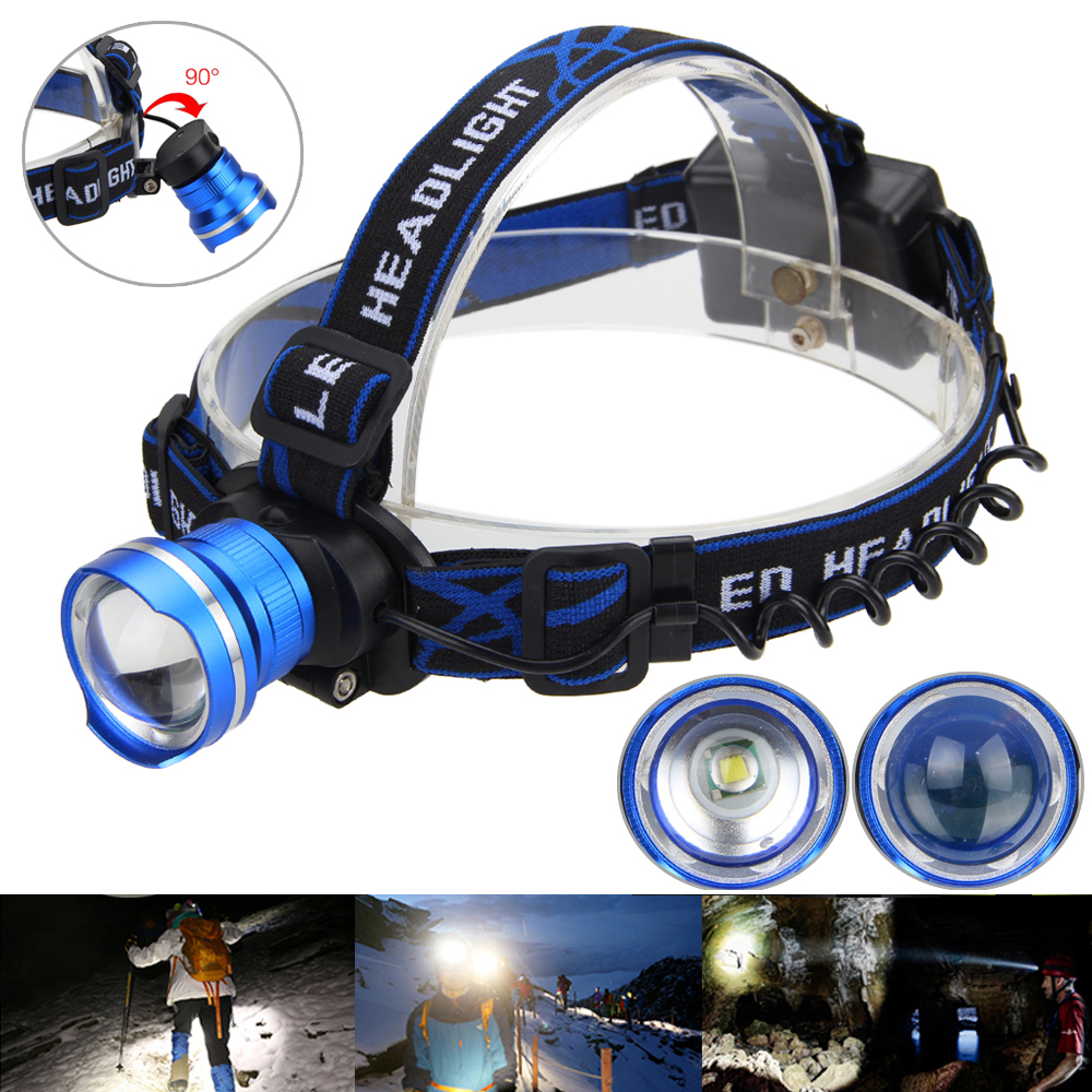 Zoomable Fokus 5000lm Xm L T6 Led Headlamp Stirnlampe Kopflamp Licht High Power Cree 5000 Lumens Black 3x Aa Blau