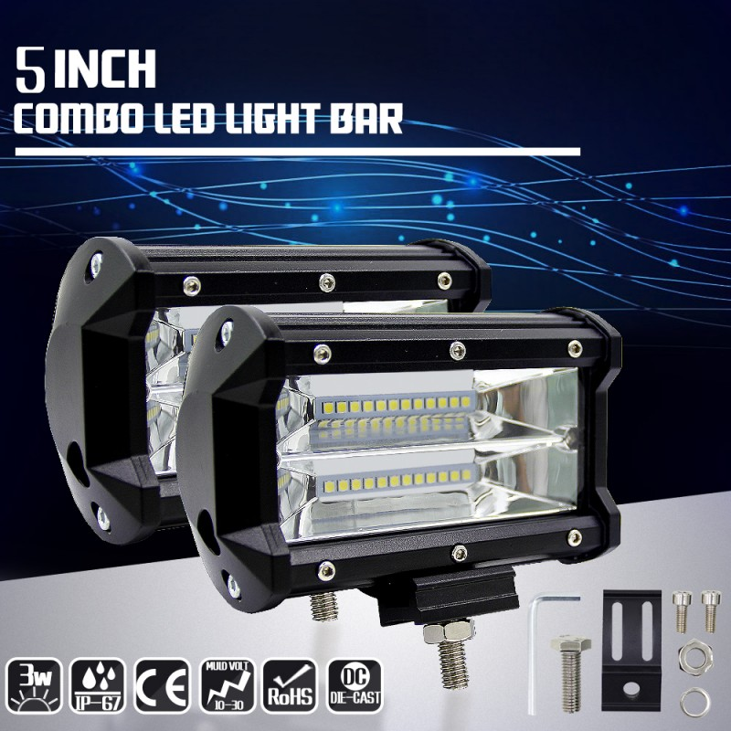 2x 5/'/' 72W LED Auto Fernscheinwerfer Arbeitsscheinwerfer Driving Lampen