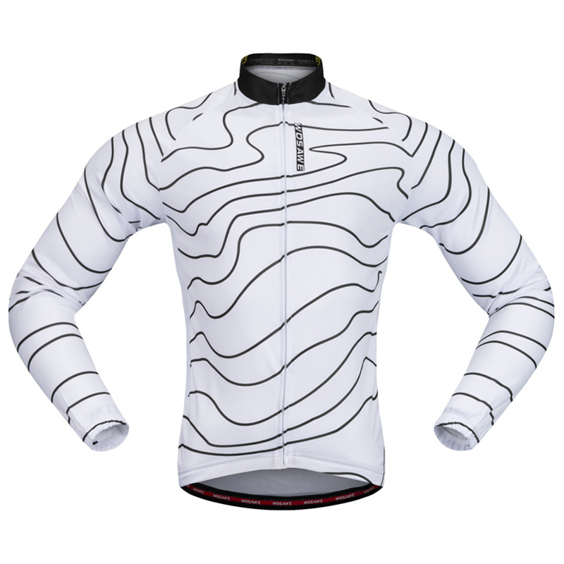 Mens Cycling Jersey Tops Bike Riding Race Long Sleeve Clothing Fleece  Thermal 69a6f34c9