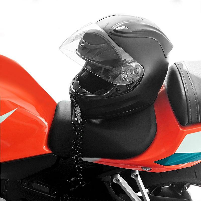 Motorcycle Helmet Lidlock Combination Security Carabiner