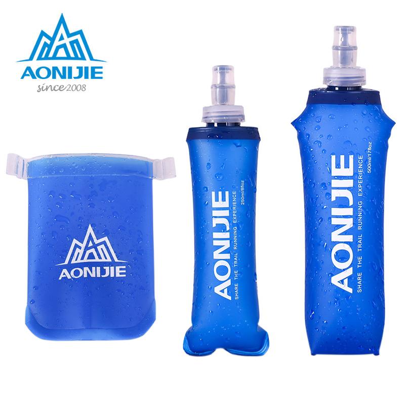 Aonijie Plegable Suave Flask TPU Exterior Correr Agua Deporte Botella 170//250//