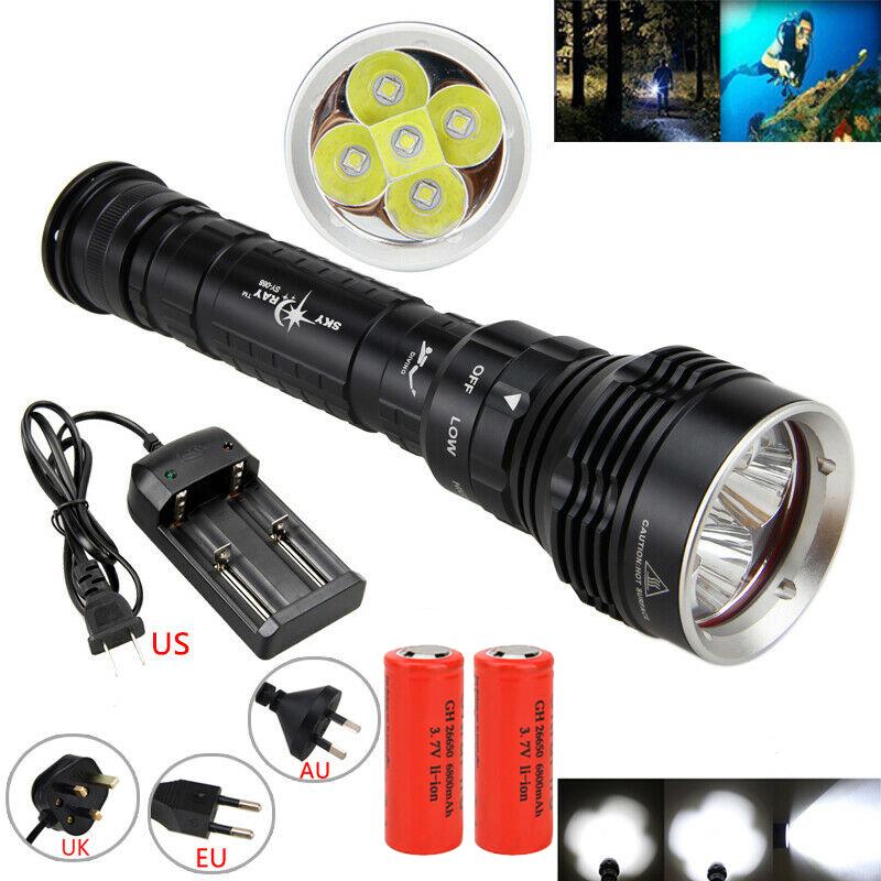 20W XM-L L2 LED USB Taschenlampe Lampe Licht Taktische Fackel 18650 Handlampe